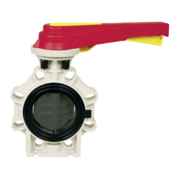 Praher Butterfly Valve K4 PVC-U with Hand Lever