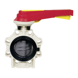 Praher Butterfly Valve K4 CPVC with Hand Lever
