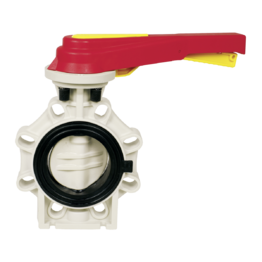 Praher Butterfly Valve K4 PP with Hand Lever
