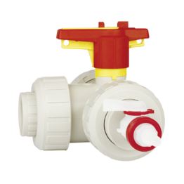 Praher 3-way Ball Valve S4 PP Limited 90°/180°