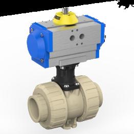 Praher 2-way Ball Valve M1 PP Pneumatic Actuator