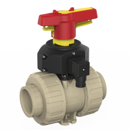 Praher 2-way Ball Valve M1 PP with Position Feedback