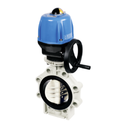 Praher Butterfly Valve K4 PP Electric Actuator Valpes