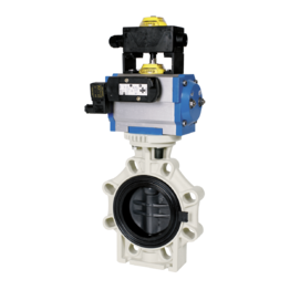 Praher Butterfly Valve K4 PVC-U Pneumatic Actuator