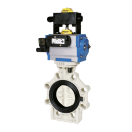 Praher Butterfly Valve K4 PP Pneumatic Actuator