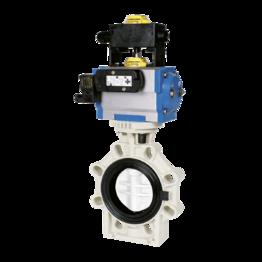 Praher Butterfly Valve K4 PVDF Pneumatic Actuator