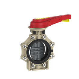 Praher Butterfly Valve K4 PVC-U with Hand Lever and Lug Type