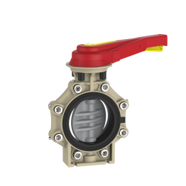 Praher Butterfly Valve K4 CPVC with Hand Lever and Lug Type