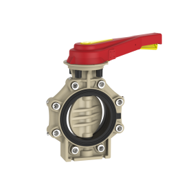 Praher Butterfly Valve K4 PP with Hand Lever and Lug Type