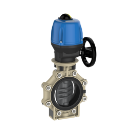 Praher Butterfly Valve K4 PVC-U Electric Actuator Valpes and Lug Type