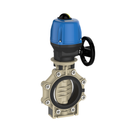 Praher Butterfly Valve K4 PP Electric Actuator Valpes and Lug Type