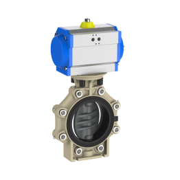 Praher Butterfly Valve K4 PVC-U Pneumatic Actuator and Lug Type