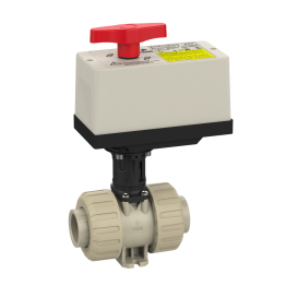 Praher 2-way Ball Valve M1 PP with Electric Actuator EO510