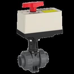 Praher 2-way Ball Valve M1 PVC-U with Electric Actuator EO510