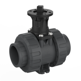 Praher 2-way Ball Valve M1 PVC-U Adapter Set