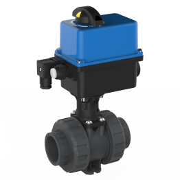 Praher 2-way Ball Valve M1 PVC-U Electric Actuator Valpes