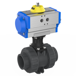 Praher 2-way Ball Valve M1 PVC-U Pneumatic Actuator