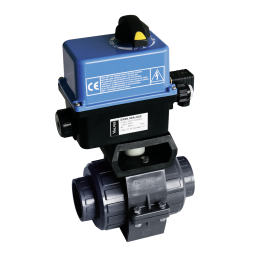 Praher 2-way ball valve S4 with Valpes-actuator, grey, black and blue