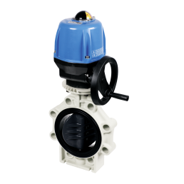 Praher butterfly valve K4 PVC with Valpes actuator, grey, black, beige, blue
