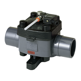 Praher Diaphragm Valve T4 directly operated PVC, grey, black