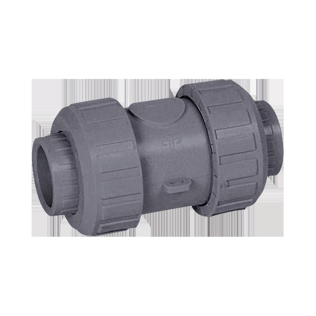 Praher cone check valve S4 PVC-C, grey