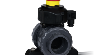Praher 2-way Ball Valve M1, grey, black, red, yellow