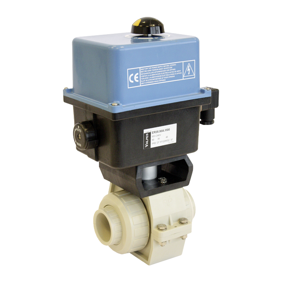 Praher 2-way Ball Valve S4 PP Electric Actuator Valpes - Praher