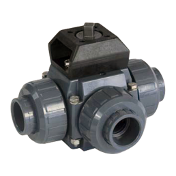Praher 3-way ball valve S4 with adapterset PVC, grey, black