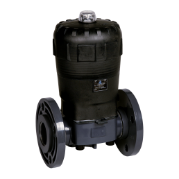 Praher Diaphragm Valve T4 PVC with pneumatic actuator, grey, black