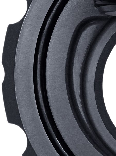 Praher wafer type check valve K6 PVC sealing surface design, grey