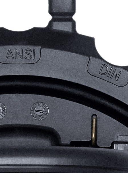 Praher wafer type check valve K6 PVC markings, grey