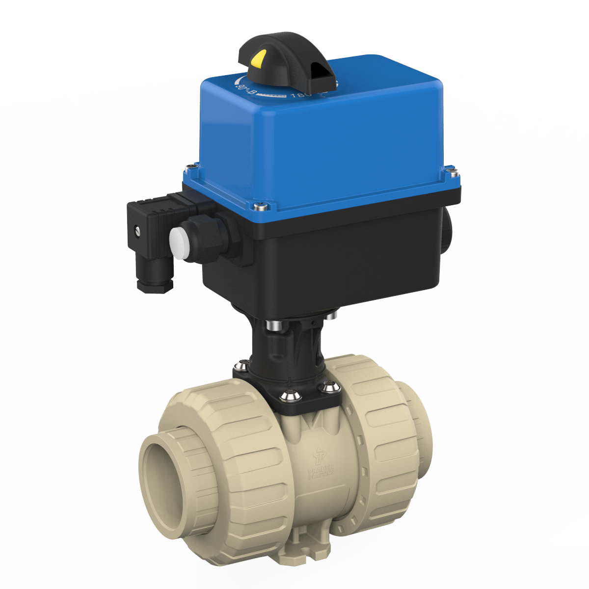 Praher 2-way Ball Valve M1 PP Electric Actuator Valpes