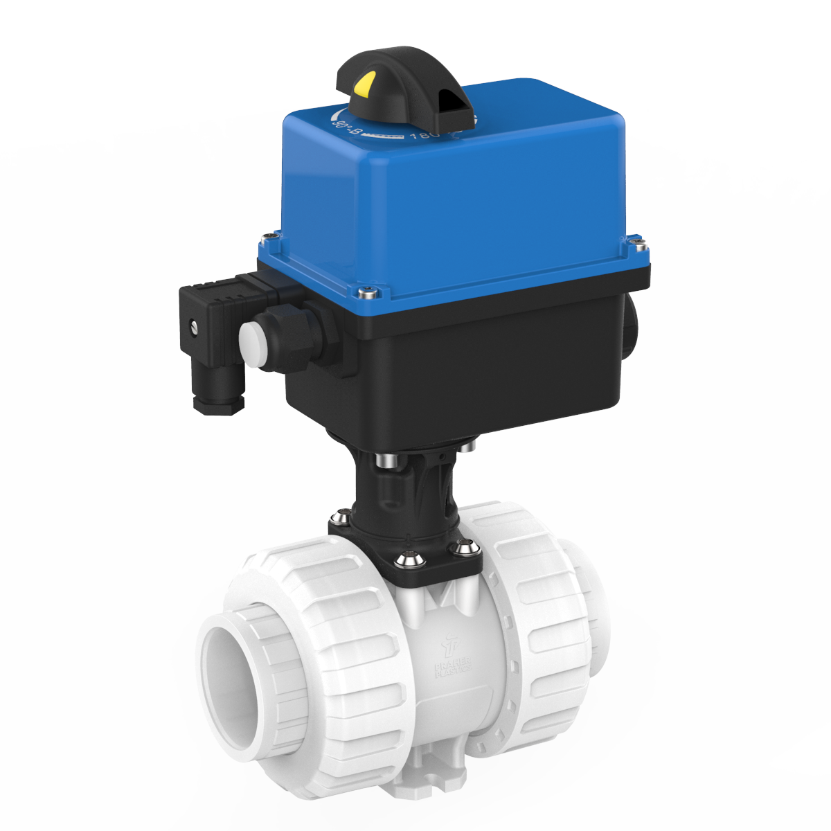 Praher 2-way Ball Valve M1 PVDF Electric Actuator Valpes