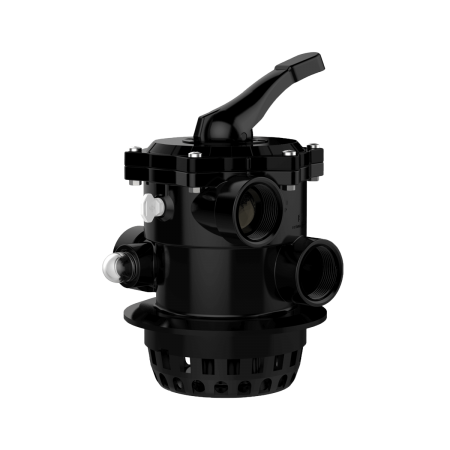 Praher_V6_backwash valve, ABS, black