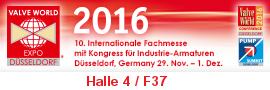 Messebanner Valve World Expo 2016