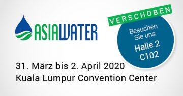 Asia Water 2020 verschoben