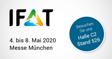 IFAT Messe München, 4.-5. Mai 2020, Halle C2 Stand 625